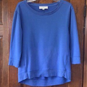 True Blue 3/4 Sleeve Loft Sweatshirt